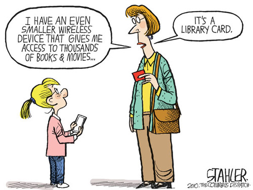 No kindles at our house.  Just library cards.  All the humans in our house have one.