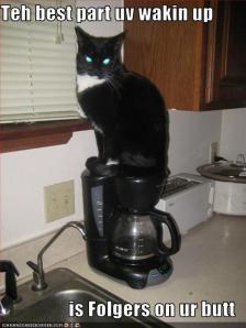 I drank coffee.