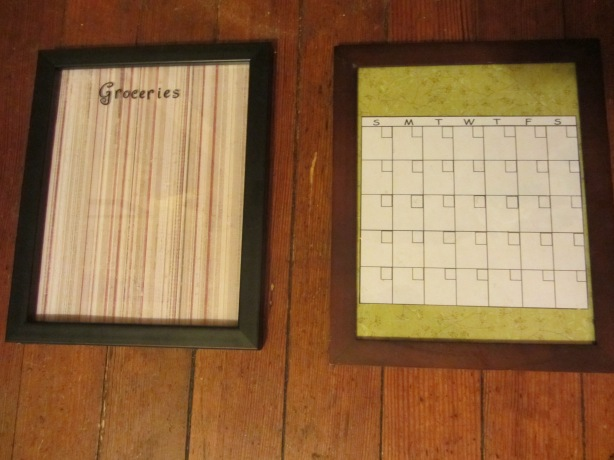 Dry Erase Board and Calendar from my house