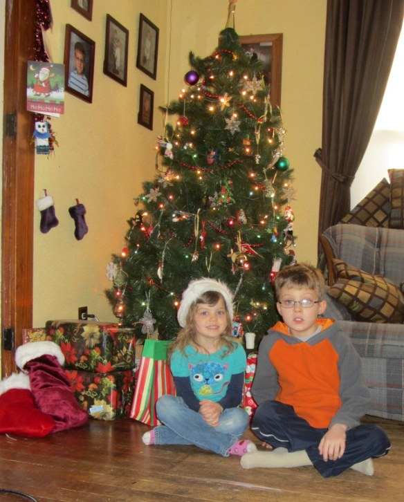 The kids on Christmas morning.