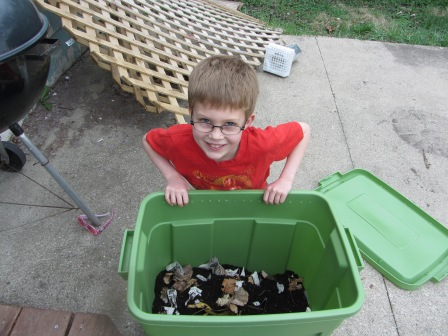 The kid is cute, so what if we never really used the compost?  ;-)