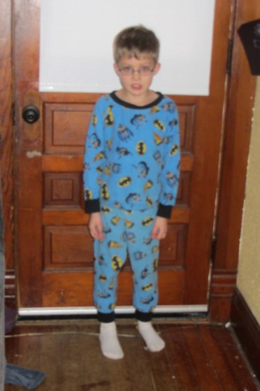 These are the pjs The Professor wore.  None of the pics I took today turned out.