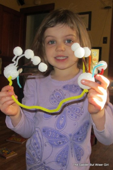 The Princess's latest art-we've decided it's a molecule.