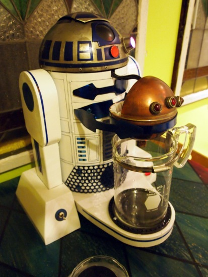 This is really something someone built!  You can find it here http://www.instructables.com/id/R2D2-Dark-Roast-Edition/