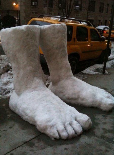 They told us to expect feet of snow...