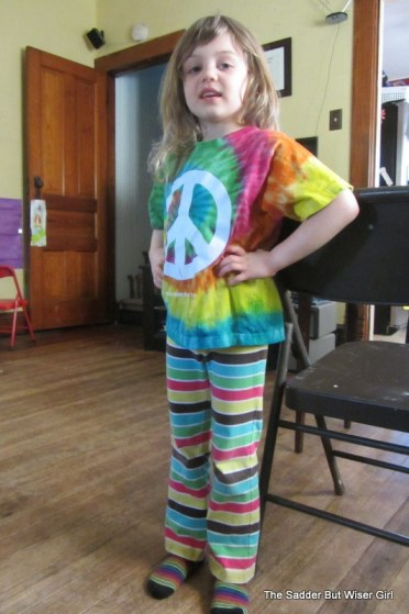 She said she was a rainbow, making sure I knew that even her underwear was rainbow colored.