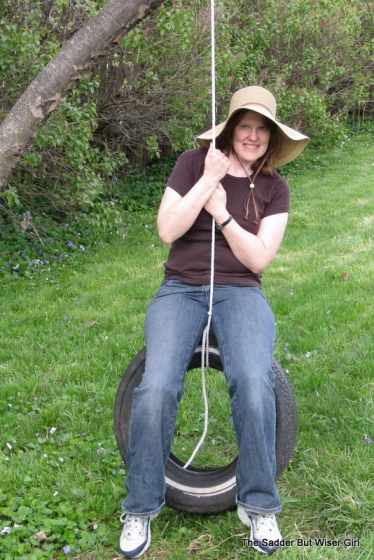 This hat.  The hat rocks.  Maybe I'll make a tire swing too.