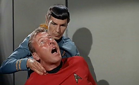 My neck pain-perhaps I am the victim of a Vulcan nerve pinch and just don't remember?