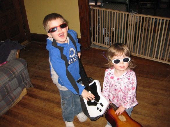 My little rock stars!