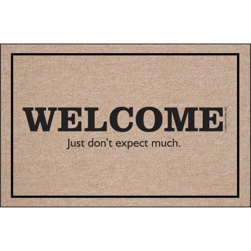 I want this welcome mat, even though it has nothing to do with this post!