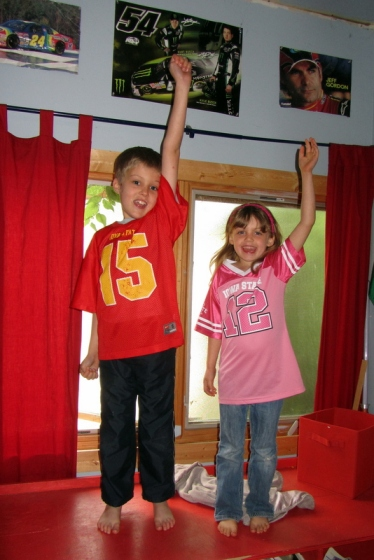 The kids are ready to cheer on the Iowa State Cyclones!