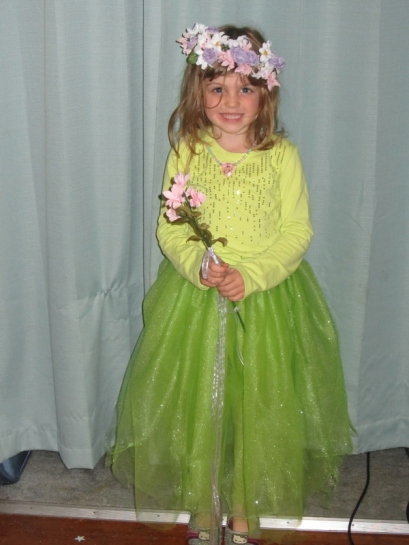 Our beautiful dancing flower princess, crooked crown and all!