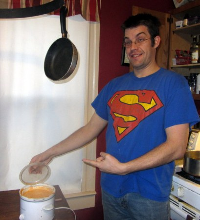 You may have a man who cooks for you, but do you have SUPERMAN cooking for you?