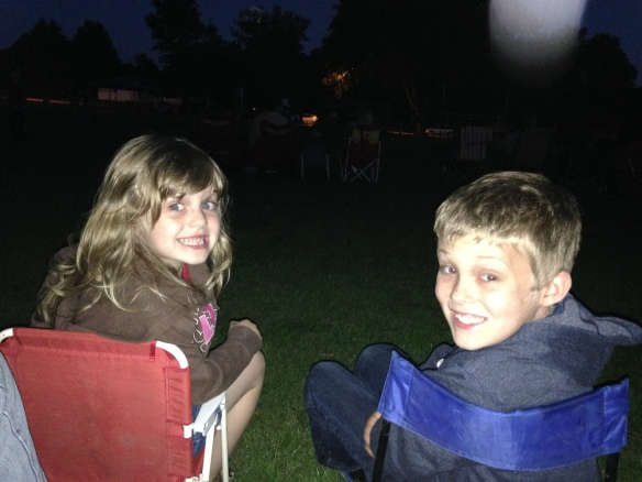 Waiting patiently for the fireworks on the 4th!