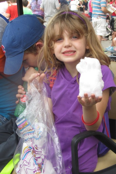 My children are deprived.  They had never had cotton candy before!