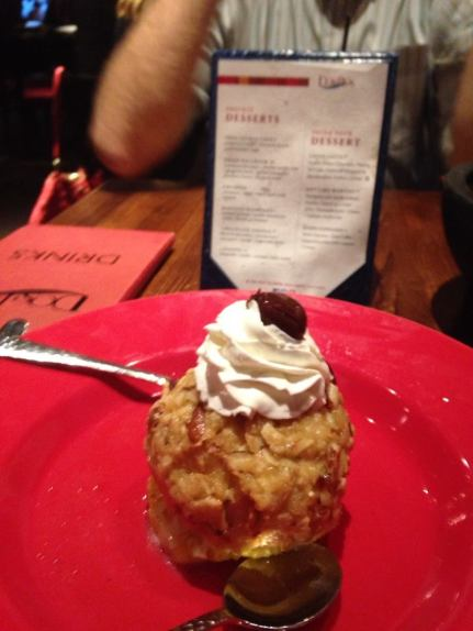 I have decided to make it my life's work to travel to different Mexican restaurants around the world, trying to see which one has the best fried ice cream.  This one was pretty good.