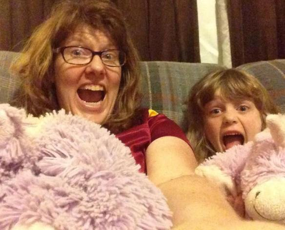 """When it's """"Girls Night"""", that means that you watch girl movies, and you get to hold the baby unicorn and mommy gets to hold the mommy unicorn.  True story."""