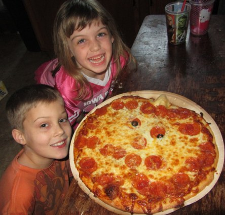 Jack-o-Lantern Pizza.  Apparently it's a tradition now.